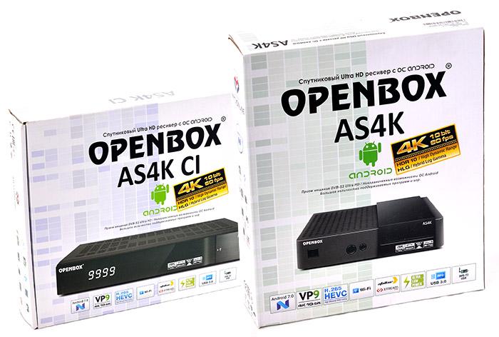 Openbox AS4K и AS4K CI - обзор двух